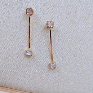 Henri Bendel Shiny Zircon Earrings